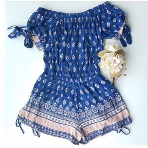 Band of Gypsies Tied Patterned Romper